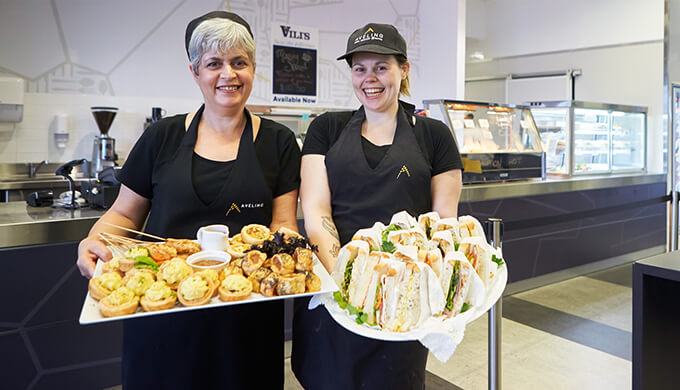 Find out more about our catering options