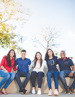 Group of multicultural young people